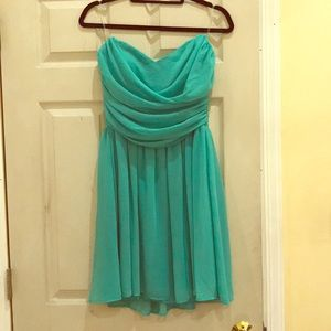 Mystic Mint strapless dress from Von Maur (w/tags)